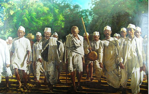 Gandhi Leads the Dandi Walk